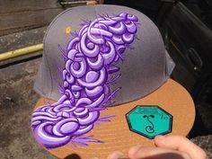Custom hand painted hat by Braxtonart on Etsy, $100.00