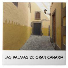 Vegueta, Gran Canaria ceramic photo tile