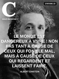 velkommen til jérôme ! Citations D'albert Einstein, Citation Einstein, Quote Citation, Albert Einstein Quotes, Plus Belle Citation, French Quotes, Some Words, Positive Attitude, Motivation Inspiration