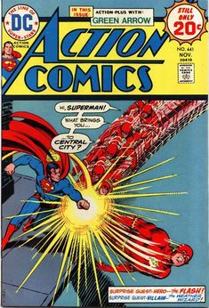 Action Comics #441. Cover by Nick Cardy.  Gosh, Superman, he was just asking a question! Someone tell Ma Kent!