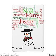 Snowman iPad Mini Cover #Snowman #Snow #Snowflake #Winter #Holiday #Christmas #Cover #Case #iPadMini #Tablet
