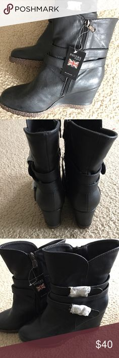 Pavers England ankle boots. Handmade. Euro Size 40 Brand new with tags. Pavers England ( UK brand) ankle boots. Handmade. Europe size 40/ US 9  (check your fav shoes in Europe size conversion, if these fits you). I wear a 8.5 and there is room for socks for me. Retails over $80+tax. ( I just went to select size here and it shows me US 10 ( Euro 40). Which is not true. So, I added a size chart from Pavers England website, it shows US size 9. Ask any questions. Bundle and save. Pavers England…
