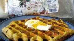 Healthy Coconut Flour Waffles with honey