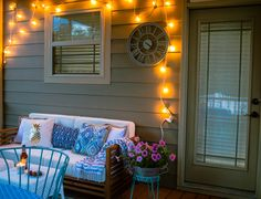 This screened in porch is amazing and has so many inexpensive decor finds and inspiration for creating an inviting outdoor room this summer! Back Deck Decorating, Porch Makeover, Breath Of Fresh Air, Decks And Porches, Screened In Porch, Outdoor Rooms, Summer Nights, My House, Backyard