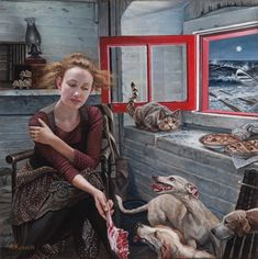 American Gothic: The magical realism of Andrea Kowch American Gothic, Art And Illustration, Jig Saw, Hampton Art, Audre Lorde, Art Hub, Magic Realism, Painting People, Sign Printing