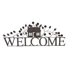 Clayre & Eef Wanddecoratie Welcome