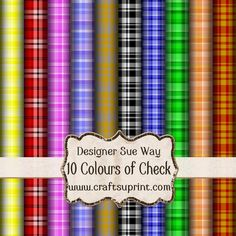 Colourful Checks Backing Paper