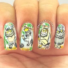 Where the Wild Things Are / 15 Works Of Nail Art Inspired By Your Favorite Children's Books
