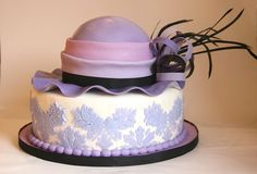 purple hat cake