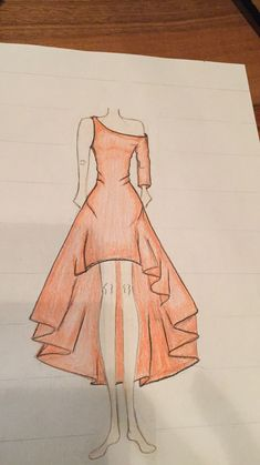 (notitle) – Drawings – - From Parts Unknown Dress Design Drawing, Dress Design Sketches, Fashion Design Sketchbook, Fashion Design Drawings, Dress Drawing, Fashion Sketches, Fashion Drawing Dresses, Fashion Illustration Dresses, Art Drawings Sketches Simple