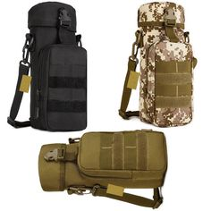 Military Water Bottle Bag Hiking Tactical Kettle Gear Molle Pack Pouch Holder #Unbranded