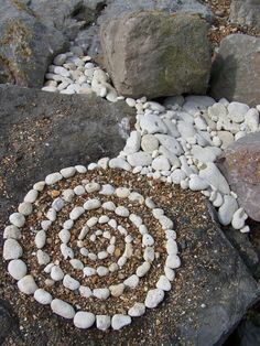 Make a stone spiral in the yard impromptu, so that means have some supplies around.