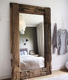 STYLE BOARD – Grand-Scale Mirrors | urban i.d. - Interior Design Portland Rustic Home Decor Cheap, Rustic Decor, Diy Home Decor, Rustic Shabby Chic, Shabby Chic Homes, City Farmhouse, Farmhouse Decor, Aging Wood, Raw Wood