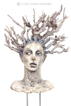 Clay&branches Sculpture by Tatjana Raum