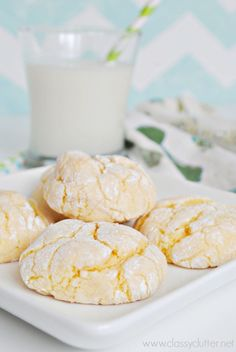These Cake Mix Lemon Cookies are ridiculously easy and beyond delicious! YUM! | www.classyclutter.net