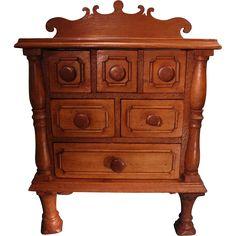 Fabulous Antique Miniature Dresser Chest