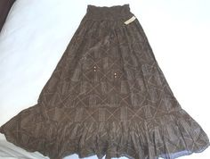NWT RALPH LAUREN DENIM &SUPPLY MAXI DRESS BROWN SLEEVELESS 100% COTTON L $145