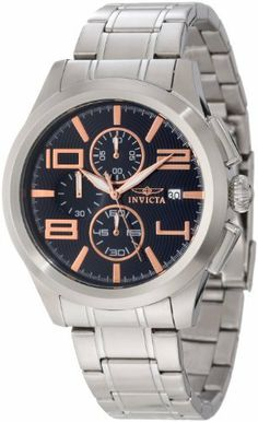 Invicta Men's 12152 Specialty Elegant Chronograph Black Dial Stainless Steel Watch Invicta. $268.50. Black textured dial with rose gold tone hands, hour markers and Arabic numerals; luminous. Flame-fusion crystal; stainless steel case and bracelet. Water-resistant to 100 M (330 feet). Chronograph functions with 60 second, 60 minute and 1/10th of a second subdials; date function. Japanese quartz movement. Save 70% Off!