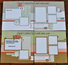 layouts by Lynn Como using CTMH Zoe paper... same layout but different base color CS and reverse side of Zoe PP