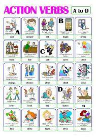 Resultado De Imagen Para Verbos En Ingles Para Colorear Verbos