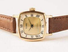 Soviet women's watch  vintage wristwatch gold plated  by SovietEra, $42.00