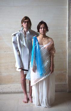 Christian Poulot Photoshoot Le Louvre Summer 2011 - Designer Leah Mendelson