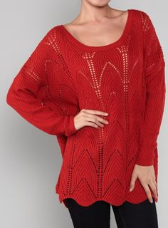 BLACK FRIDAY OFFER. RED SWEATER TUNIC. $30
