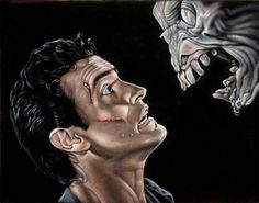 Ash - Bruce Campbell Evil Dead velvet painting by Bruce White Scary Movies, Horror Movies, Bruce Campbell Evil Dead, Ash Evil Dead, Ash Williams, Velvet Painting, Vince Mcmahon, Very Scary, Horror Art