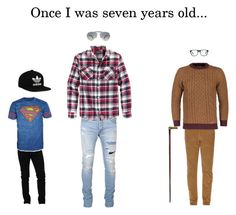 """Once I was seven years old..."" by hannahhastings73 ❤ liked on Polyvore featuring adidas Originals, Dolce&Gabbana, Bioworld, Balmain, Retrofit, Ray-Ban, Gucci, Ace, men's fashion and menswear"
