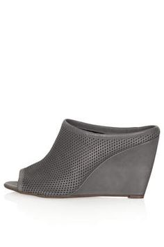 WALTZ Perforated Mule Shoes - Heeled Sandals - Heels - Shoes