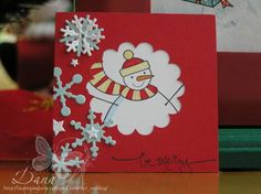 Frosty by mspigletta - Cards and Paper Crafts at Splitcoaststampers Stamping Up, Snowman, Paper Crafts, Simple, Cards, Blog, Tissue Paper Crafts, Blogging, Snowmen