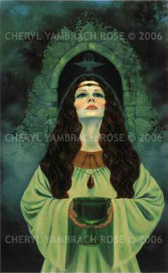 Cheryl Yambrach Rose-Hall|Neo-Mythic®/Visionary | Benedicta Veriditas (Blessed Green) (1993)