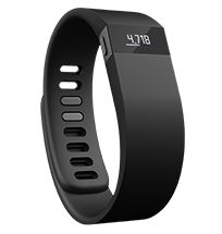Fitbit® Force™ $129.95 걸음 수, 거리, 소모칼로리, 오른 계단 수, 활동 시간, 수면 시간, 숙면 정도, 밤에 몇 번 깼는지 확인, 시끄러운 알람 소리 없이 진동으로 잠 깨우기, 시계 기능, 전화 수신 진동 알림(iOS7, 아이폰 4S 이상 지원 예정), 방수, 블루투스로 데이터를 스마트폰과 컴퓨터에 싱크, 목표 설정과 경쟁 기능, 두 가지 크기, 두 가지 색상. 나중에라도 스마트폰에서 멀어지면 진동으로 알려주고, 아이들에게서도 멀어지면 진동으로 알려주는 기능 있으면 좋을 듯.