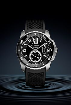 The Calibre de Cartier Diver in stainless steel on a rubber strap will retail for $8,200. A steel bracelet raises the ante to to $8,900.