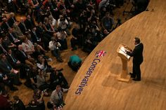 David Cameron delivers his keynote speech to the Conservative conference in 2014