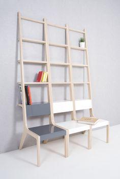 Les réalisations du designer coréen Seung-Yong Song permettent à chacun de créer sa propre installation à domicile. Pour lui une chaise n'est pas nécessairement une chaise, mais peut aussi servir comme une échelle, une étagère ou même un étendoir à linge.
