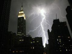 Lightning in NYC