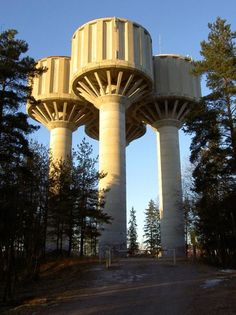 "The water tower of Korso, designed by the winners of 1972 ""Best concrete structure"" -award."