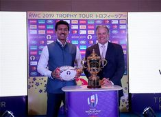 Today the honourable Sports Minister of India, Col. Rajyavardhan Singh Rathore, launched the Rugby World Cup 2019 Trophy Tour in India, welcoming the Webb Ellis Cup to Delhi. Visit India, Rugby World Cup, India Tour, Welcome, Tours, Japan, Sports, Hs Sports, Japanese Dishes