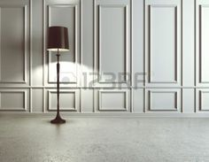 luxury interior with floor lamp photo