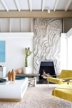 Living Room Inspiration: Mid-Century Modern Home in Berkeley Hills Mid Century Modern Living Room, Mid Century House, Living Room Designs, Living Room Decor, Living Spaces, Living Rooms, Living Room Inspiration, Interior Design Inspiration, Design Ideas