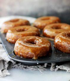 17 Fall-Worthy Pumpkin Desserts: Salted Caramel-Glazed Pumpkin Donuts