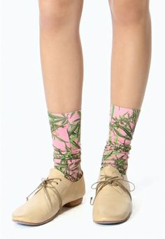 Strathcona Pink Mary Jane Socks