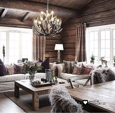 Love this room, so cosy yet rustic and modern.