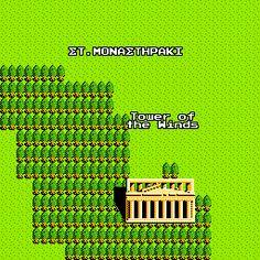 google maps 8-bit acropolis!