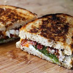 """Our """"Jalapeno Popper"""" grilled cheese sandwich is just like the bar food classic...only with way more chevre and bacon."""