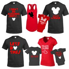 Mickey & Minnie I Don't do Matching Shirts Let's Do This Disneyland Disney World family trip vacation - matching shirts tshirts with names
