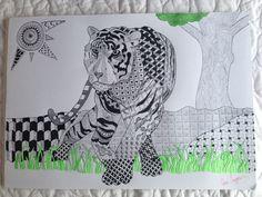 Tiger, zentangle