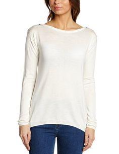 ESPRIT Damen Pullover 123EE1I026, Rundhals