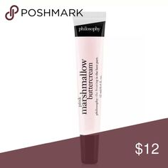 Philosophy MARSHMALLOW LIPSHINE Lipgloss FS Sealed Brand new and Sealed. Full size item.  ❌Trades❌ ⚡️We ship lightening fast⚡️ 🎀Discounts with bundles 🎀 Philosophy Makeup Lip Balm & Gloss